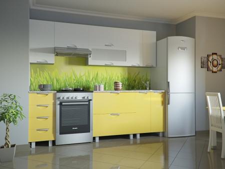 Кухня Мадена Бело-желтый глянец