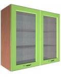 Шкаф В-800 2 двери с 2 стёклами Размер 800x300x720