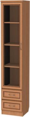 Шкаф для книг с ящиками узкий 220