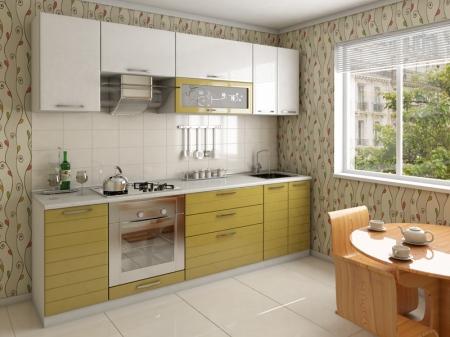 Кухня САКУРА зеленое яблоко