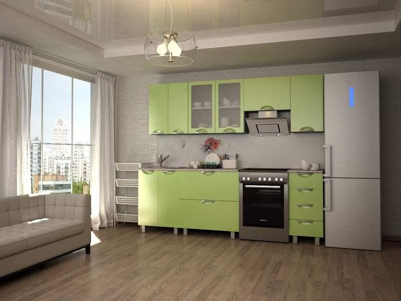 Кухня Мадена Зеленый глянец