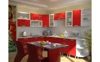 Кухня Умница - Красный металлик