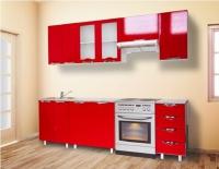 Кухня Мадена Красный глянец