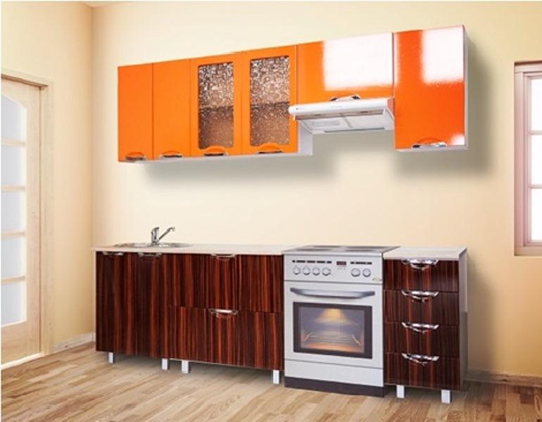 Кухня Мадена Оранж-зебрано глянец