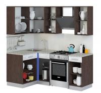 Кухня Алиса-9 угловая Венге/Лайм