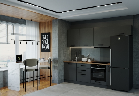 Кухня Антрацит 2550 мм