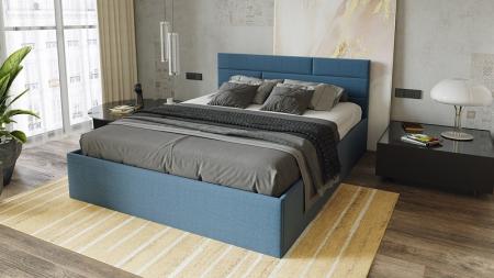 Кровать с подъемным механизмом «Грейс» (Тк. Деним)