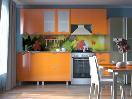 Кухонный гарнитур Мадена Оранжевый глянец