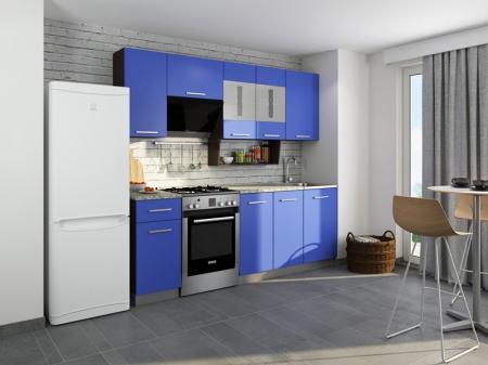 Кухня София-6 Венге/Синий